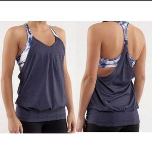 🍋 Lululemon no limits tank tie dye built in bra